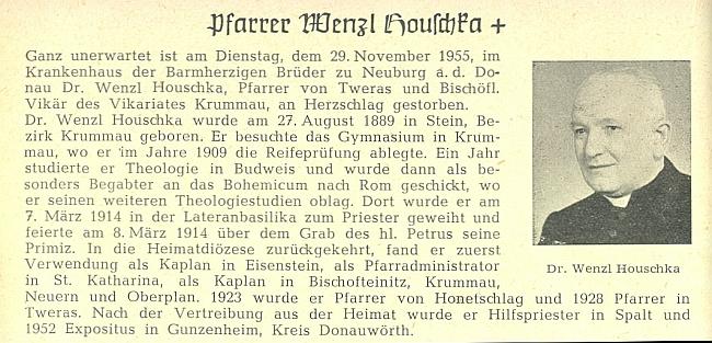 """Tento snímek provázel v """"Glaube und Heimat"""" jeho nekrolog"""
