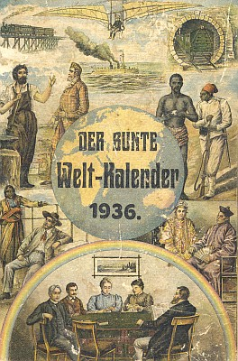 Obálka jednoho ze Steinbrenerových vimperských kalendářů, který v roce 1936 uvádí jeho delší povídka