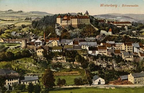 Vimperk na dvou pohlednicích Josefa Seidela
