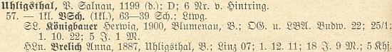 Záznam o jejím otci a škole v Uhlíkově v soupise německého učitelstva v Čechách k roku 1928