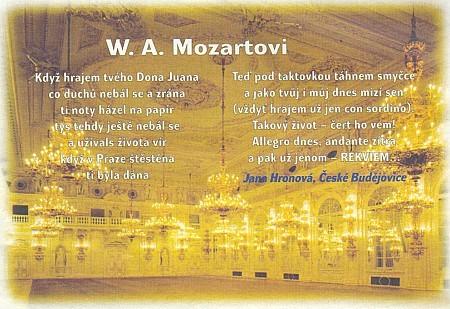 Její česká báseň věnovaná Mozartovi
