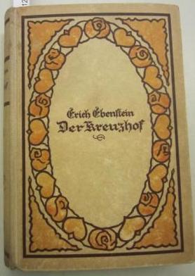 Obálka (1928) jednoho z románů jeho ženy, vydaného pod pseudonymem Erich Ebenstein