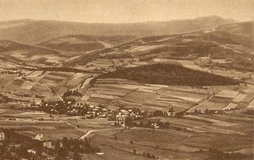"""Někdejší Prenet na staré pohlednici po přičlenění k """"Bavorské východní marce"""""""