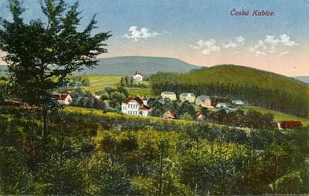 Dvě staré pohlednice z České Kubice