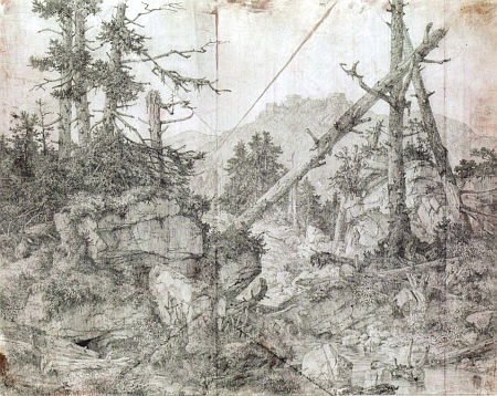 ... a na kresbě tužkou, jejímž autorem je Alois Bubák (1824-1870)