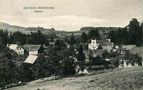 Stiftertal na pohlednici Josefa Seidela z roku 1907