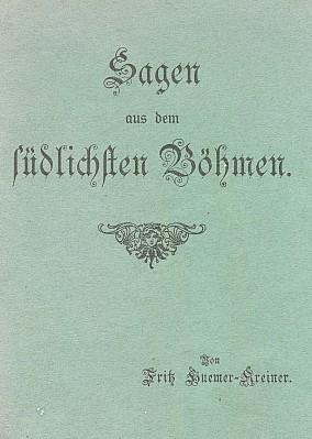 Obálka (1938) jeho knihy, kterou vydal Deutscher Böhmerwaldbund v Českých Budějovicích