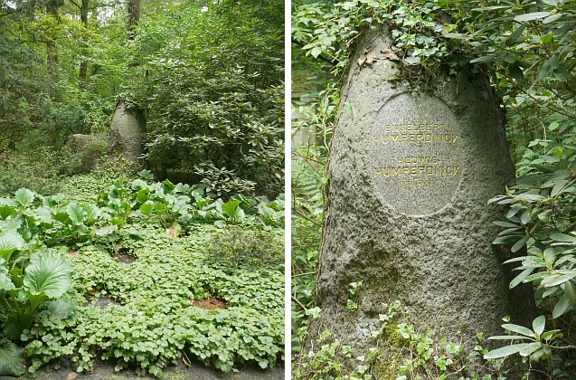 Hrob Engelberta Humperdinck a a jeho ženy Hedwig, roz. Texerové, na evangelickém hřbitově Südwestkirchhof Stahnsdorf u Berlína
