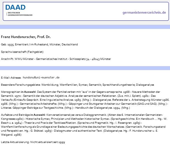 Jeho záznam v databázi Německého svazu germanistů
