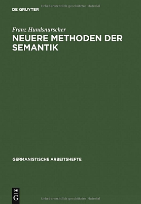 Obálka jedné z jeho knih o sémantice (2012, nakladatelství De Gruyter)