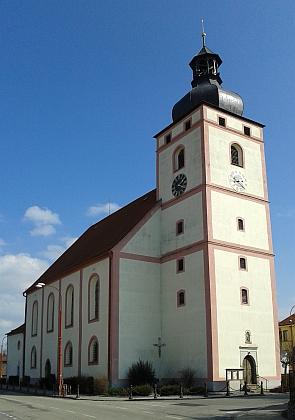 Kostel sv. Víta v Rudolfově, kde byl pokřtěn