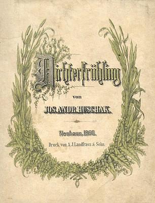 Obálka jindřichohradeckého Landfrasova vydání (1860)