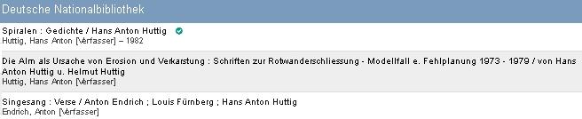 Záznamy jeho knih v katalogu Německé národní knihovny