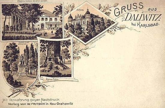Dvě složené pohlednice rodných Dalovic z z přelomu 19. a 20. století