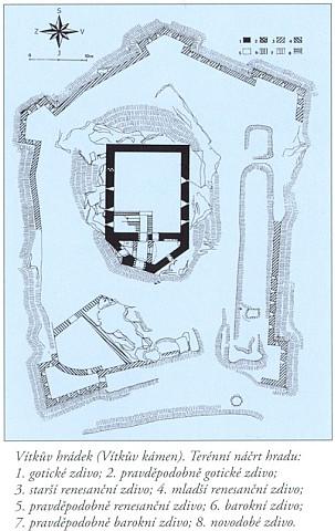 Vítkův Hrádek (Vítkův Kámen) - mapa