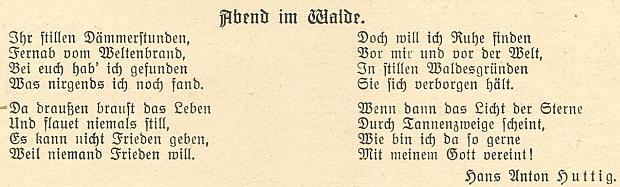 Jiná jeho báseň ze stránek českobudějovického měsíčníku německých Šumavanů