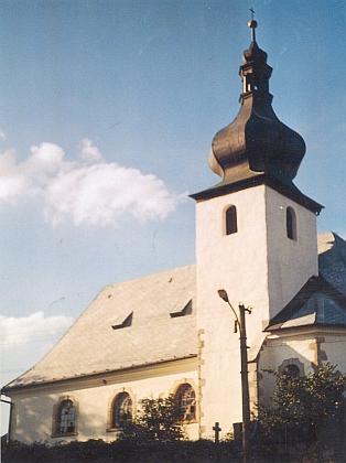 Rodné Staré Sedlo  s farním kostelem Nanebevzetí Panny Marie