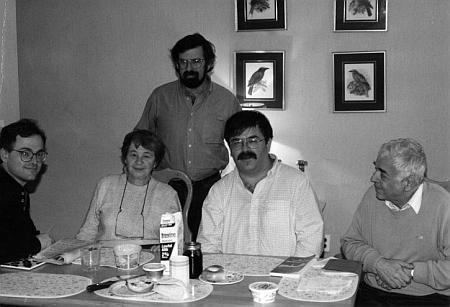 S manželem a syny v roce 1994