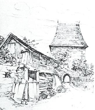 Brána zvaná Flehturm ve Vimperku