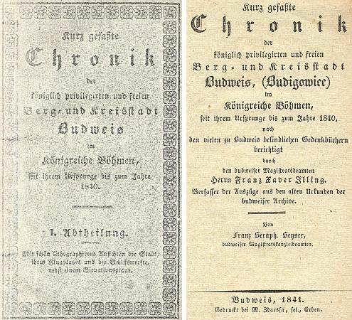 Obálka (1841) a titulní list jeho kroniky