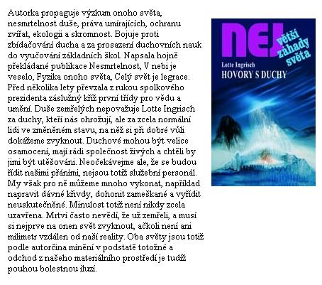 Obálka (2007) českého překladu její knihy, kterou vydalo liberecké nakladatelství Dialog