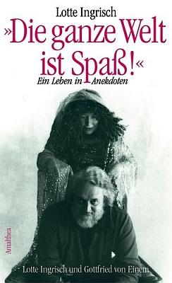 """Obálka (2002) její knihy o """"životě v anekdotách"""" vydané ve Vídni nakladatelstvím Amalthea-Signum"""