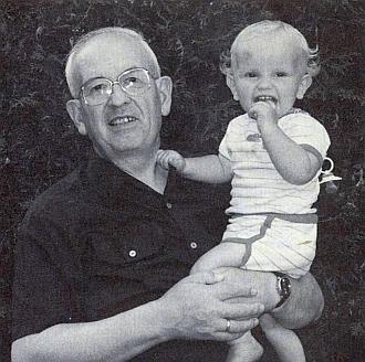 S vnukem Andreasem, kterému bylo v den dědečkových sedmdesátin přesně 6let