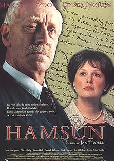 Plakát k filmu Hamsun (1996) v němž hrál roli Adolfa Hitlera (viz i Anton Langl)