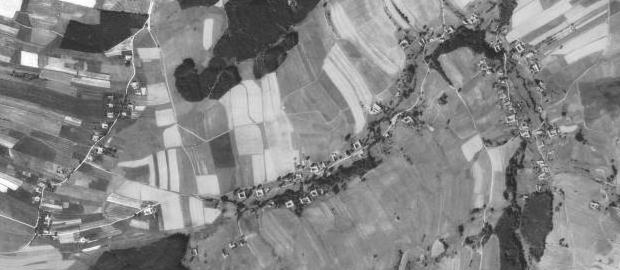 Veveří a Mýtiny na leteckých snímcích z let 1952 a 2008