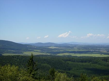 Pohled do Čech z Mandelsteinu ...