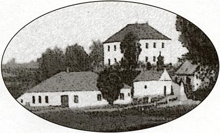Někdejší jádro osady Veveří s kaplí, pomníkem a školou