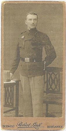 Jako voják v první světové válce