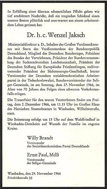 Jeho parte, které podepsal tehdejší předseda SPD apozdější spolkový kancléř Willy Brandt