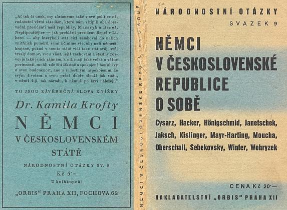 """Obálka (1937) knihy, vydané v Praze nakladatelstvím Orbis, která se i za jeho účasti snažila opožděně zamyslit nad otázkou palčivě zrající k """"národně socialistickému"""" řešení"""