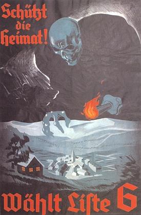 Volební plakát německé sociální demokracie vČSR z roku 1936