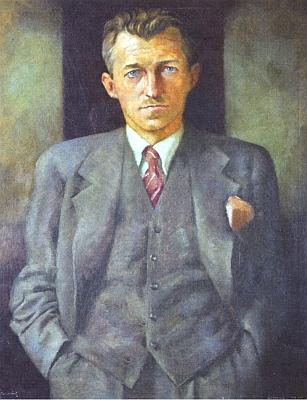 Jeho portrét, pořízený roku 1939 v Londýně, je dnes vsoukromém vlastnictví Mary Jakschové v Nelsonu naNovém Zélandu...