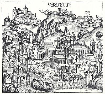 Eichstätt v Schedelově Světové kronice z roku 1493
