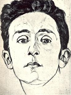 """Na portrétní grafice, jejímž autorem je Rudolf Karasek (1895-1986), který mj. i ilustroval Jakschovu knihu """"Eros-Licht"""" a spolupracoval s časopisem """"Witiko"""" (1928-1933)"""
