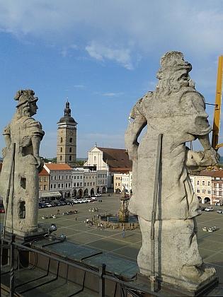 Pohled ze střechy českobudějovické radnice