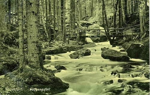 ... a ještě jedna Seidelova fotografie s vodopády  sv. Wolfganga ze staré fotografické publikace o Šumavě