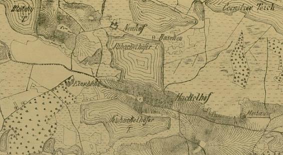 Rodná krajina na staré mapě klikněte na náhled pro digitalizovanou mapu