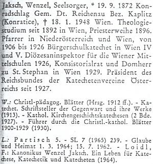 Heslo v Biografickém slovníku pro dějiny českých zemí