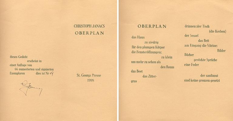 Tuhle báseň z Horní Plané mám od něho i s podpisem