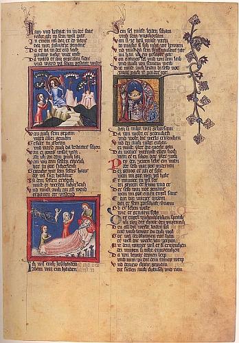 Stránka z jeho Kroniky světa s pasážemi o smrti Adamově a o potopě