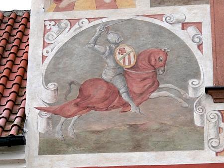 Rožmberský jezdec na bráně vyšebrodského kláštera je zpodobením jeho zakladatele