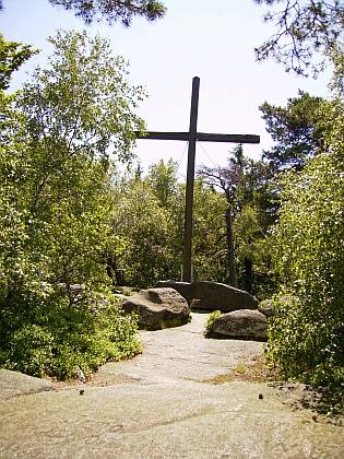 Vrcholový kříž na Mandelsteinu