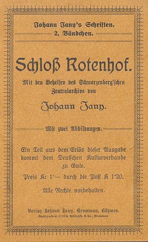 """Obálka (1922) jeho brožury o Červeném Dvoře, vydané ve vlastním nakladatelství jako už druhý """"svazeček"""" jeho spisů"""