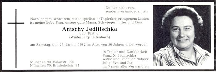 Parte jeho ženy Antschy