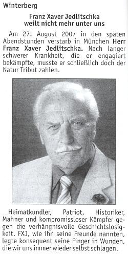 Úvod jeho nekrologu v krajanském měsíčníku
