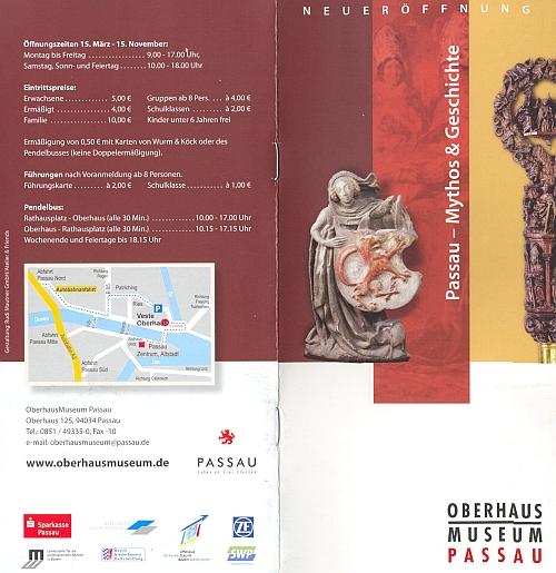 Pasovský červený vlk na prospektu muzea Oberhaus, jehož součástí je i Šumavské muzeum